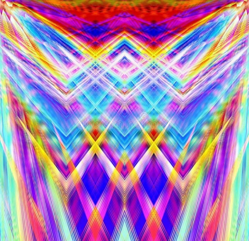 Líneas abstractas de los fondos del arte azules ilustración del vector