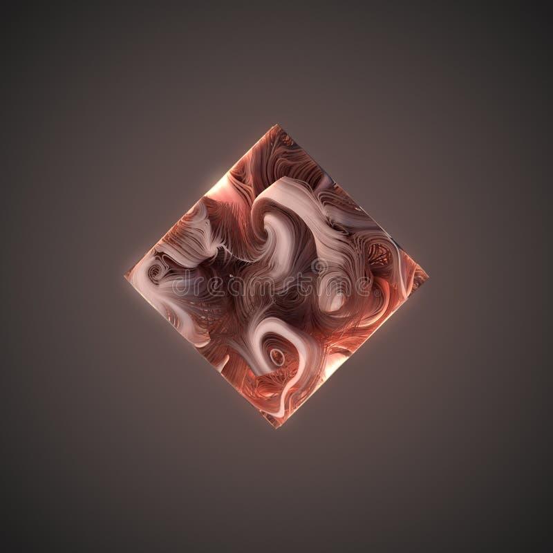Líneas abstractas del rosa de la armadura bajo la forma de cubo representación 3d ilustración del vector