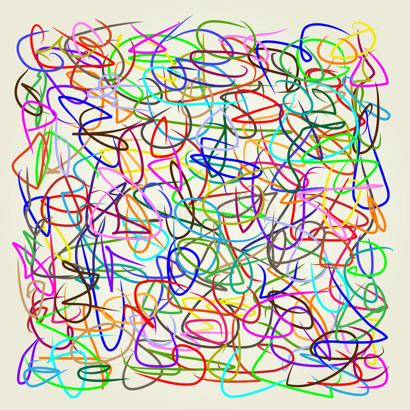 Líneas abstractas, ejemplo del vector del arte imágenes de archivo libres de regalías