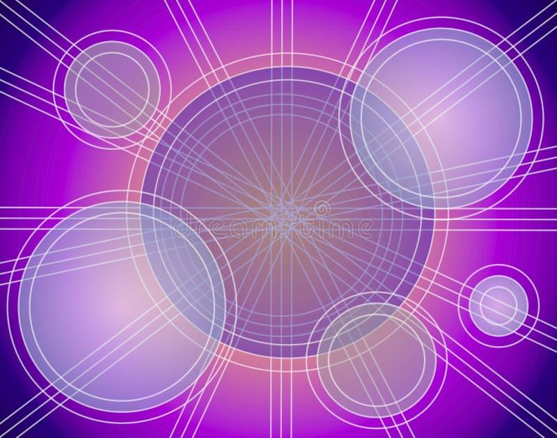 Líneas abstractas modelo de los círculos stock de ilustración