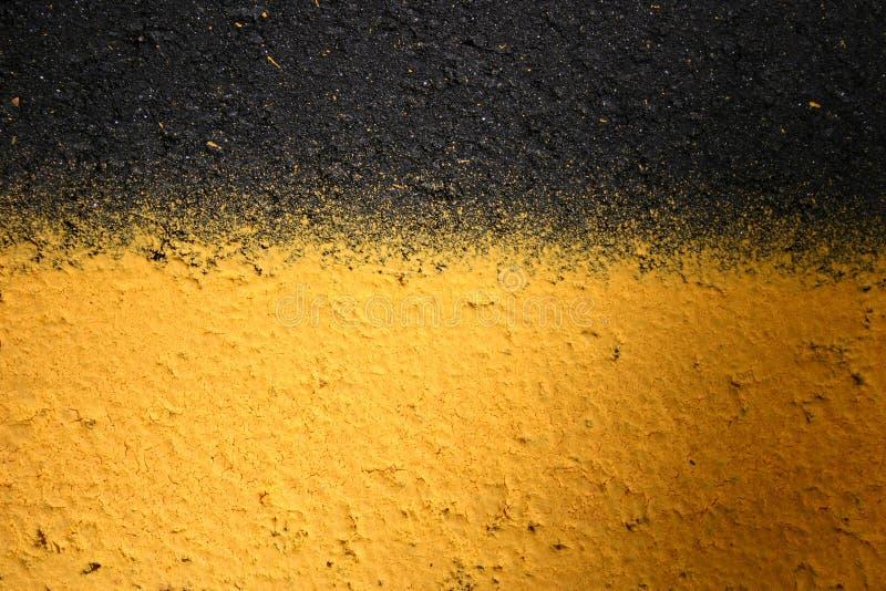 Líneas amarillas y negras imagen de archivo libre de regalías