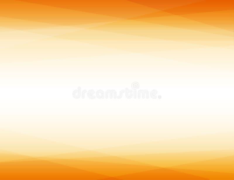 Líneas anaranjadas fondo abstracto geométrico de la capa del triángulo de la forma stock de ilustración