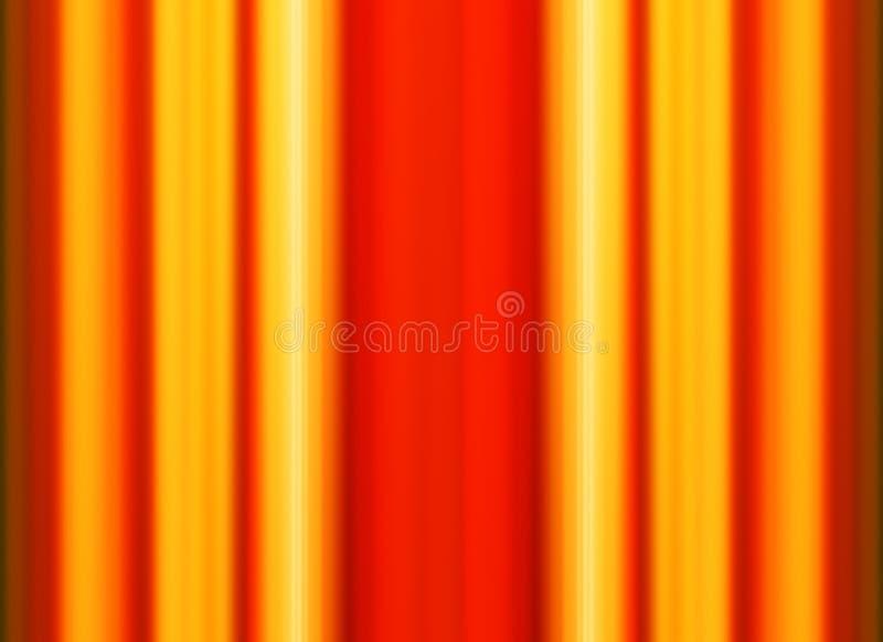 Líneas anaranjadas verticales fondo del ejemplo ilustración del vector