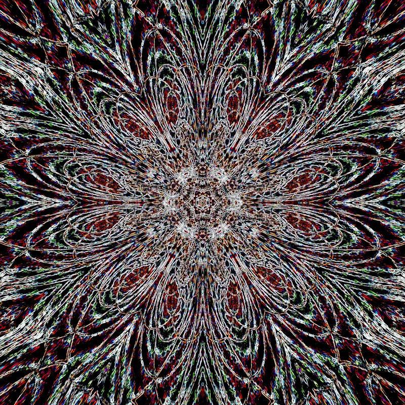 Líneas arabesque del lápiz de la oscuridad de la flor de la estrella libre illustration
