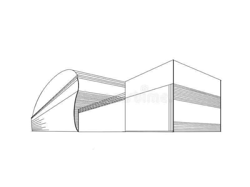 Líneas arquitectónicas de la estructura en el fondo blanco libre illustration