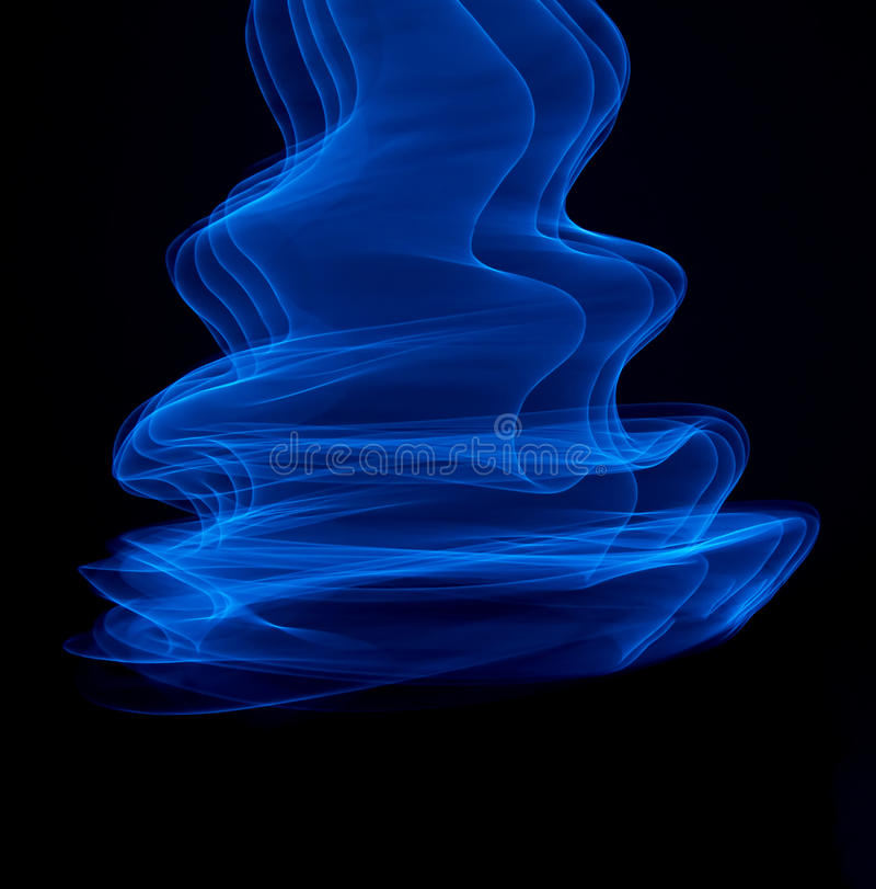 Líneas azuladas curvadas fotos de archivo