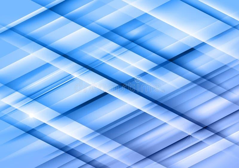 Líneas azules stock de ilustración