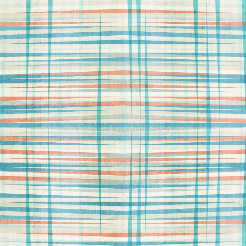 Líneas azules abstractas modelo inconsútil ilustración del vector