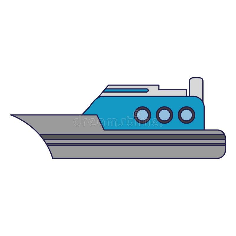Líneas azules del barco de la nave del carguero ilustración del vector