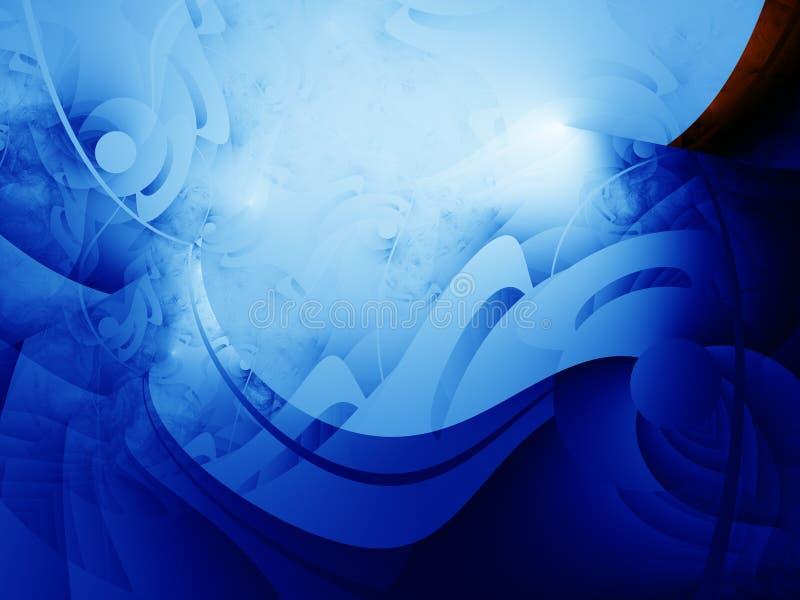 Líneas azules delicadas ilustración del vector