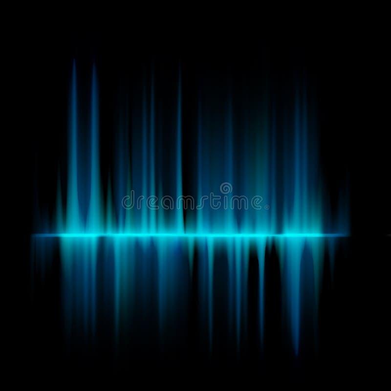 Líneas azules plantilla del diseño del equalizador. EPS 10 ilustración del vector