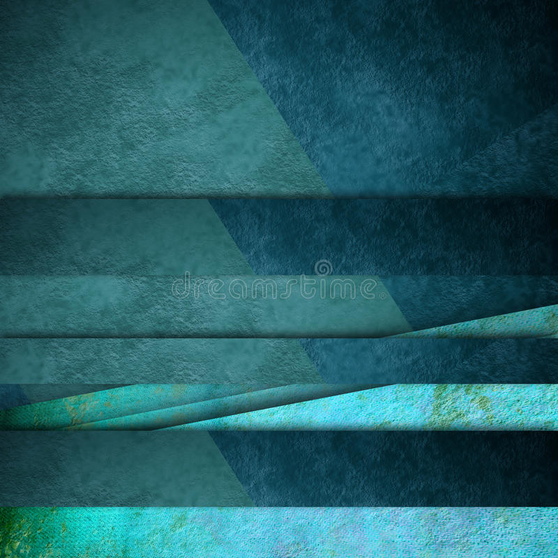 Líneas azules tarjeta del fondo stock de ilustración