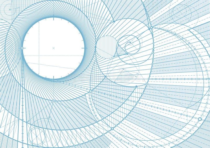 Líneas backgroundA del bosquejo stock de ilustración