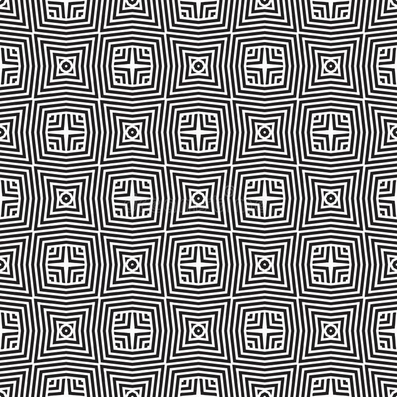 Líneas blancas negras ejemplo inconsútil del vector de n del modelo del fondo del diseño de la ilusión libre illustration