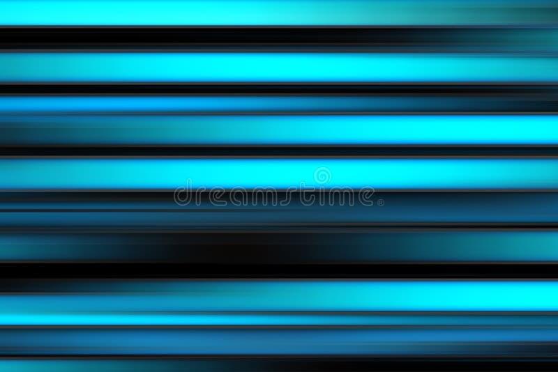 Líneas brillantes abstractas coloridas fondo, textura rayada horizontal en tonos negros, azules y ciánicos stock de ilustración