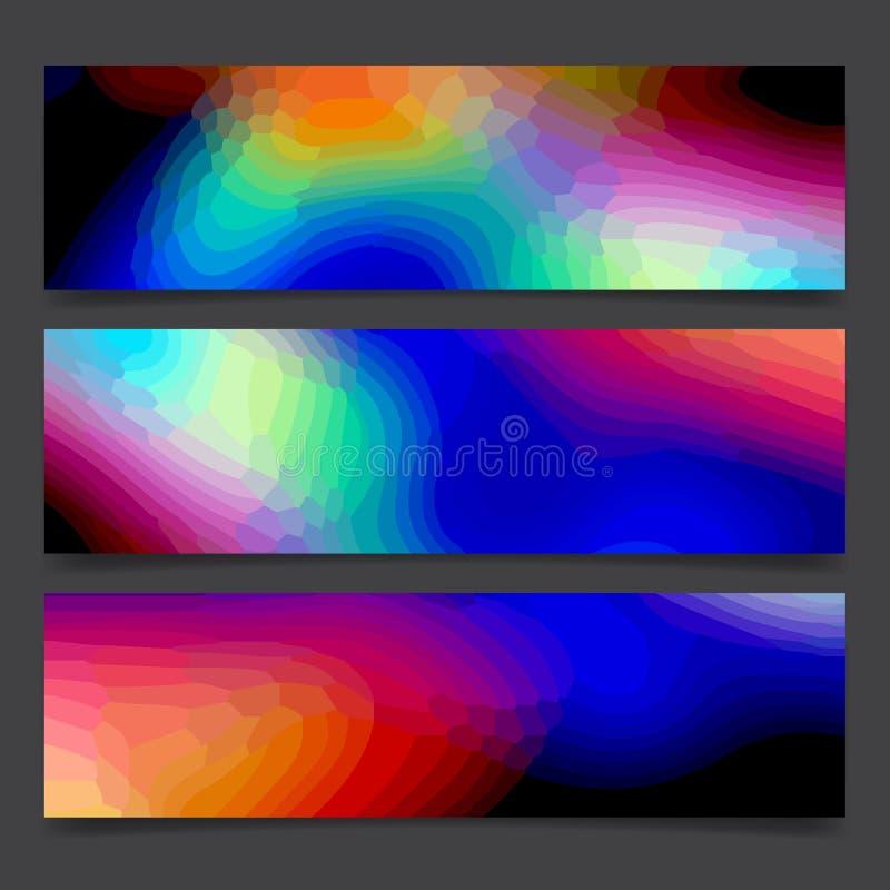 Líneas brillantes y puntos multicolores, disposición festiva del arco iris del arte de neón colorido abstracto de la pintura del  libre illustration