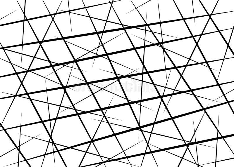 Líneas caóticas al azar, líneas dispersadas, líneas caóticas al azar elemento rayado negro simple asimétrico del arte abstracto d libre illustration