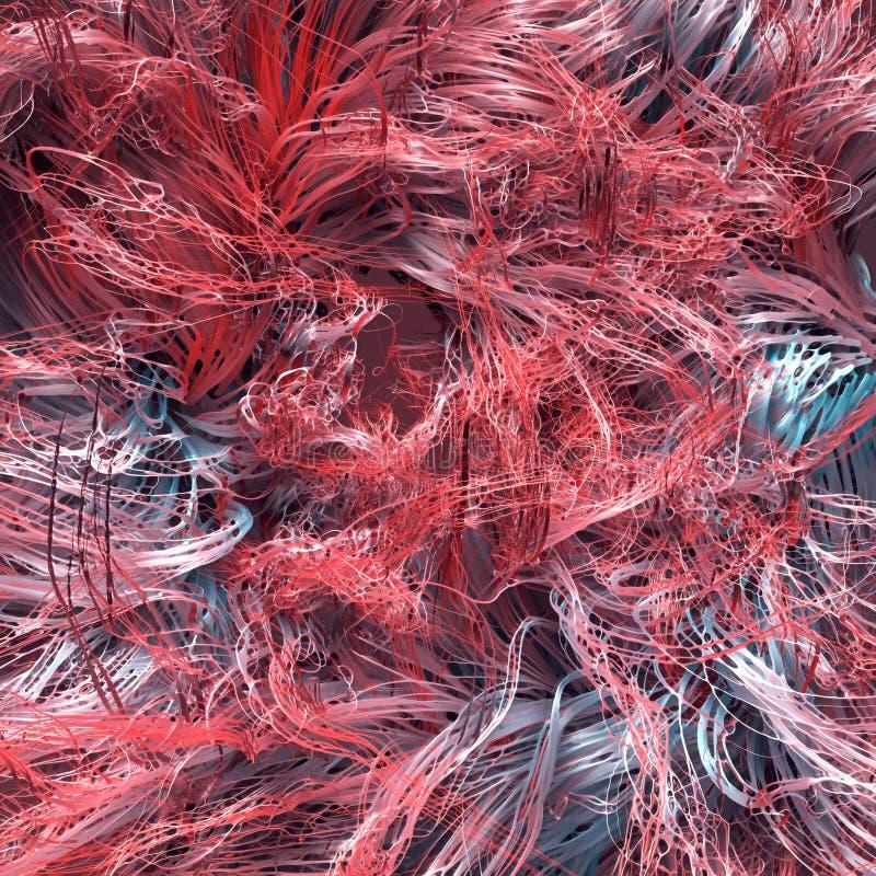 Líneas coloreadas del extracto Flujo del ruido del rizo representación 3d libre illustration
