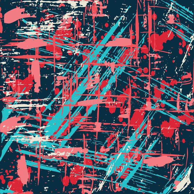 Líneas coloreadas hermosas pintada en un ejemplo negro del vector del fondo stock de ilustración