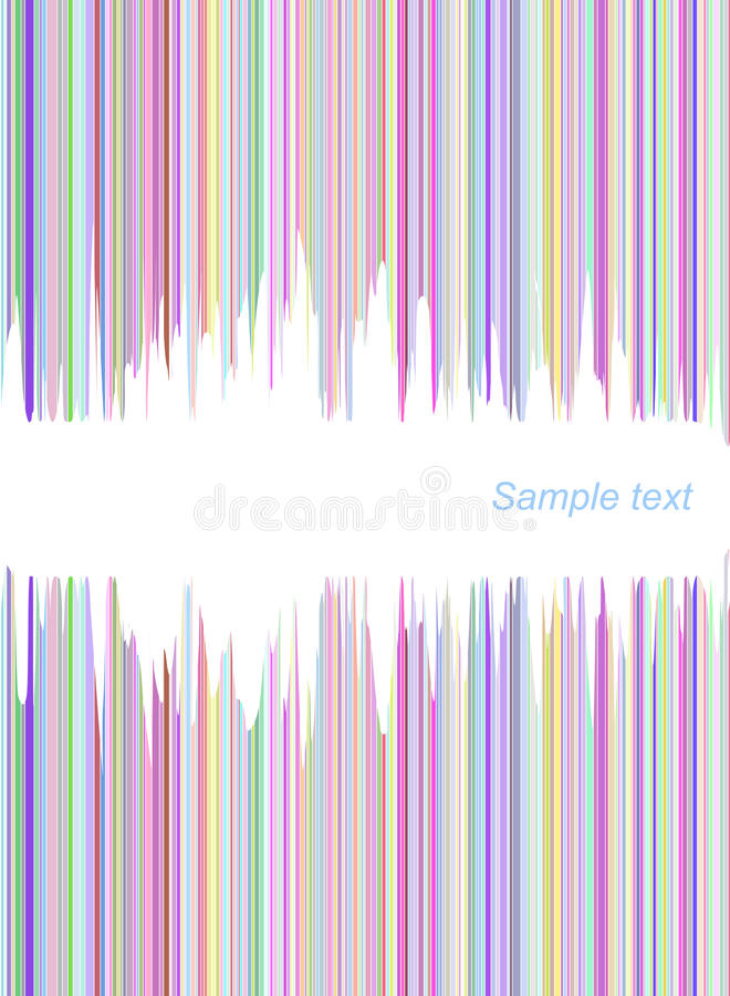 Líneas coloridas abstractas cubierta ilustración del vector