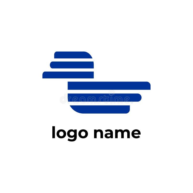 Líneas corporativas icono de la forma de la plantilla del logotipo del pato libre illustration