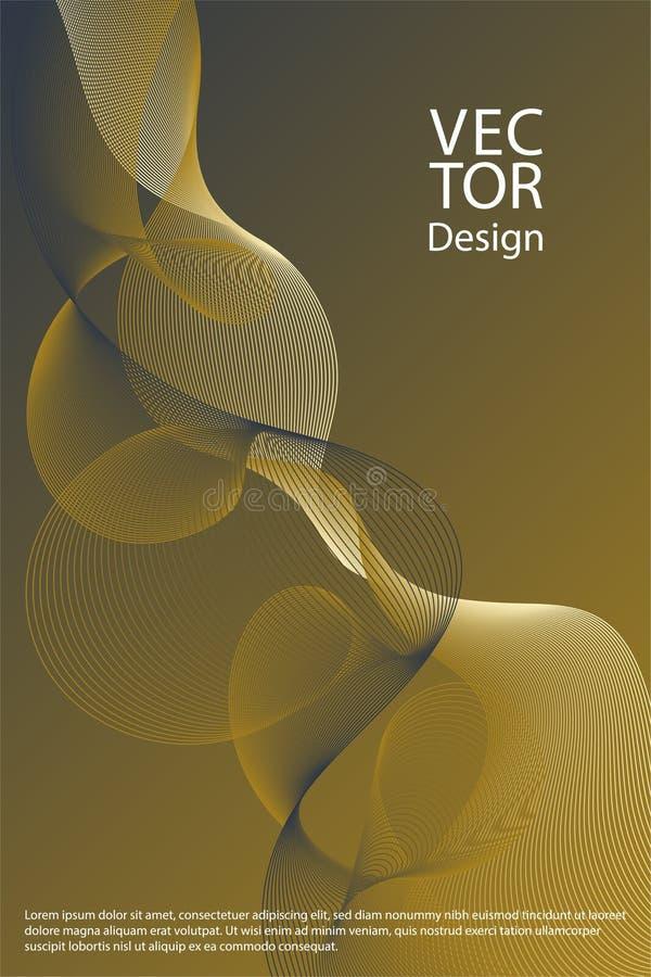 Líneas curvadas formas geométricas flúidas libre illustration