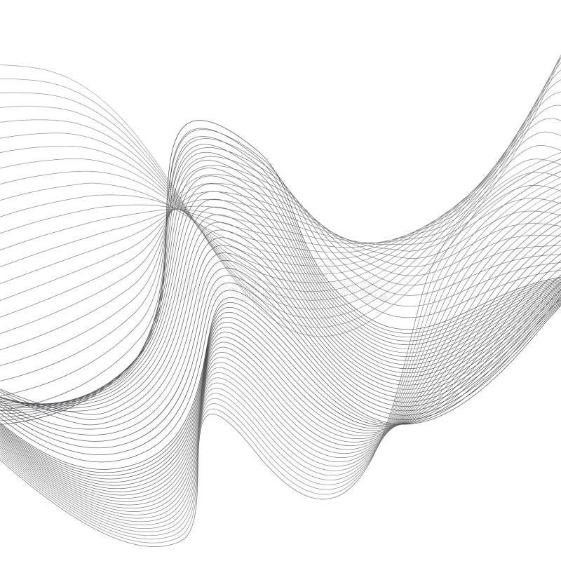 Líneas curvadas vector blanco y gris del fondo libre illustration