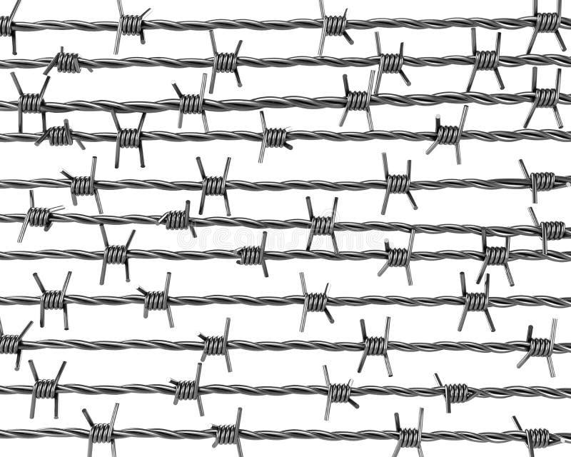 Líneas de alambre de púas libre illustration