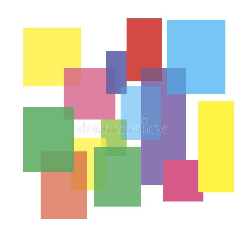 Líneas de color abstractas. Ejemplo del vector stock de ilustración