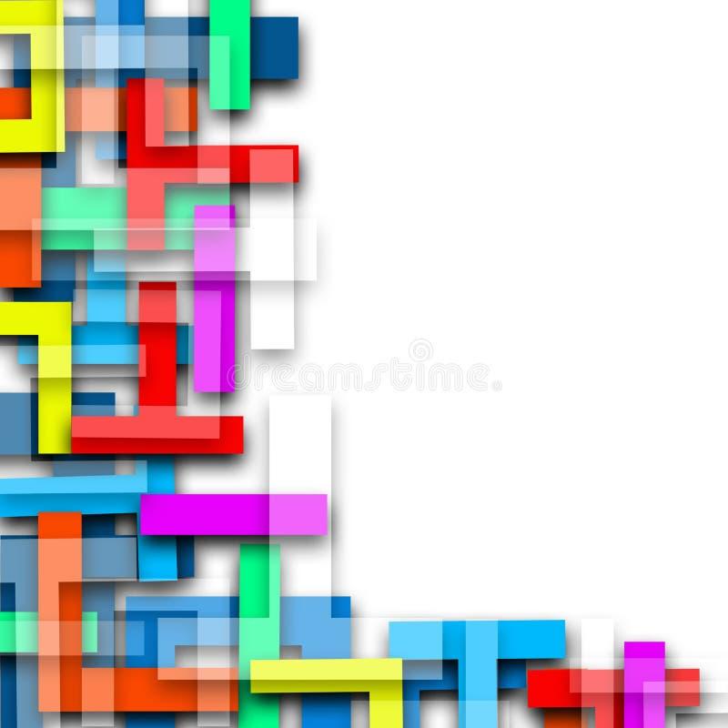 Líneas de color fondo colorido del ejemplo del extracto del mosaico ilustración del vector