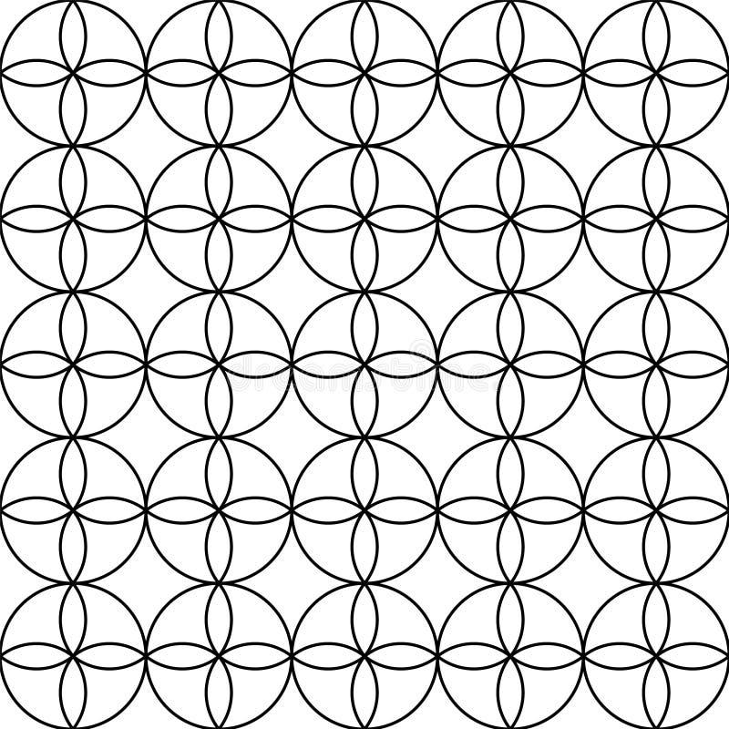 Líneas de color geométricas inconsútiles del negro del whith del modelo ilustración del vector