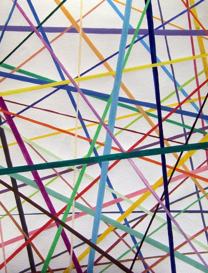Líneas de color pintura de la acuarela del fondo de la variedad fotos de archivo libres de regalías