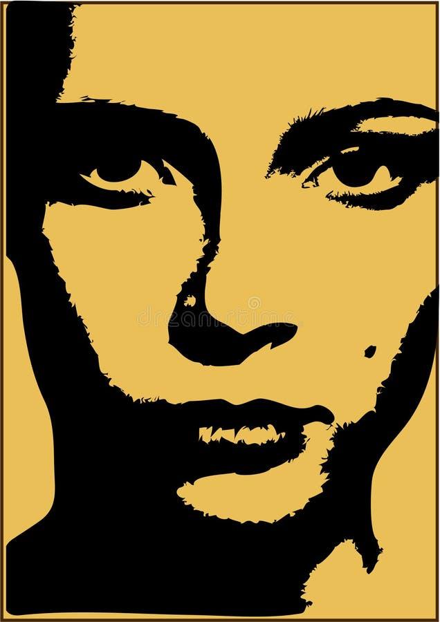 Líneas de la cara ilustración del vector
