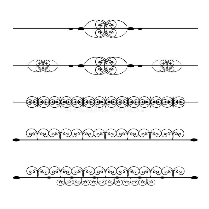 Líneas de la regla stock de ilustración
