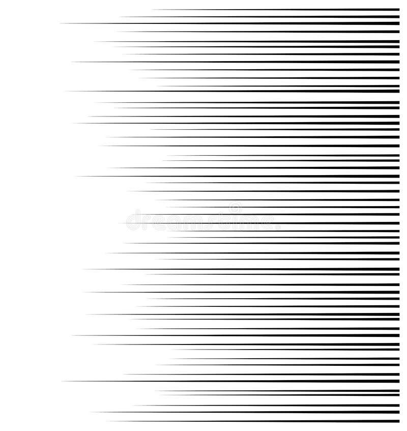 Líneas de la velocidad del movimiento horizontal para el cómic stock de ilustración