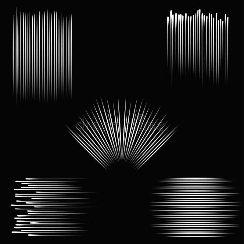 Líneas de la velocidad E r Vector stock de ilustración