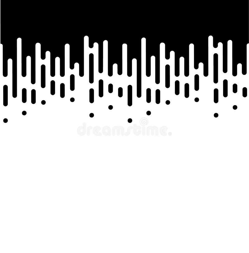 Líneas de la velocidad fijadas aisladas en blanco Efecto del movimiento stock de ilustración