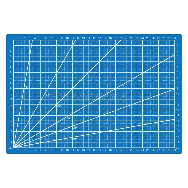 Líneas de rejilla que cortan el vector de cuero del tablero de papel de la tela de Mat Craft Scale Plate Card stock de ilustración