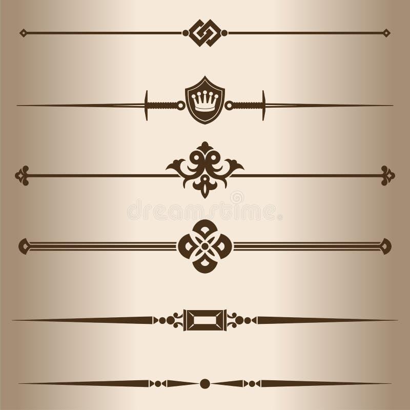 líneas decorativas stock de ilustración