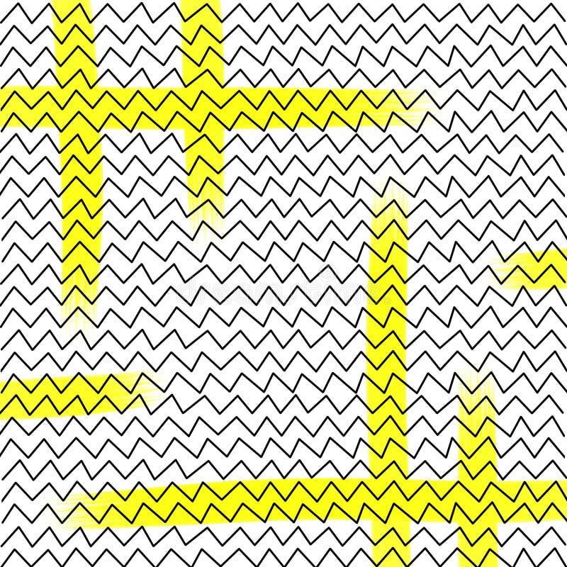 Líneas del extracto de Hendwritten, triángulos foto de archivo libre de regalías