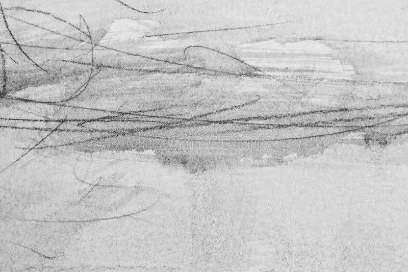Líneas del lavado y del grafito en la textura de papel imagen de archivo libre de regalías