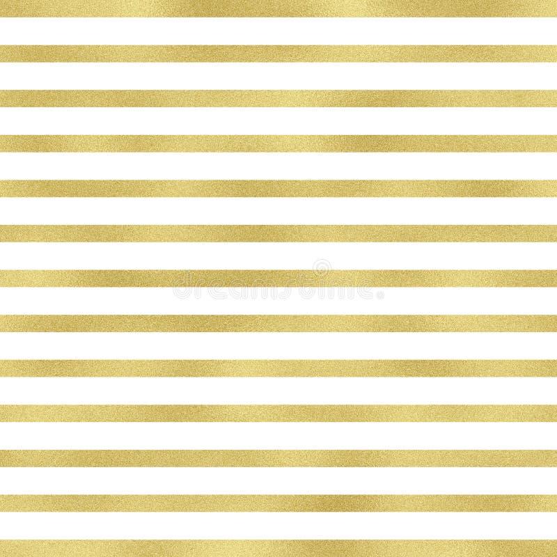 Líneas del oro en el fondo blanco Líneas decorativas modelo con el fondo blanco Modelo de lujo ilustración del vector