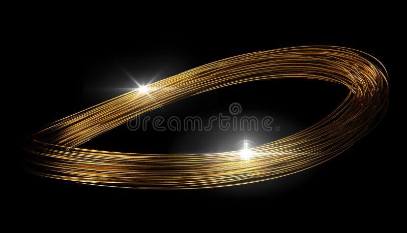 Líneas del oro del infinito imagen de archivo