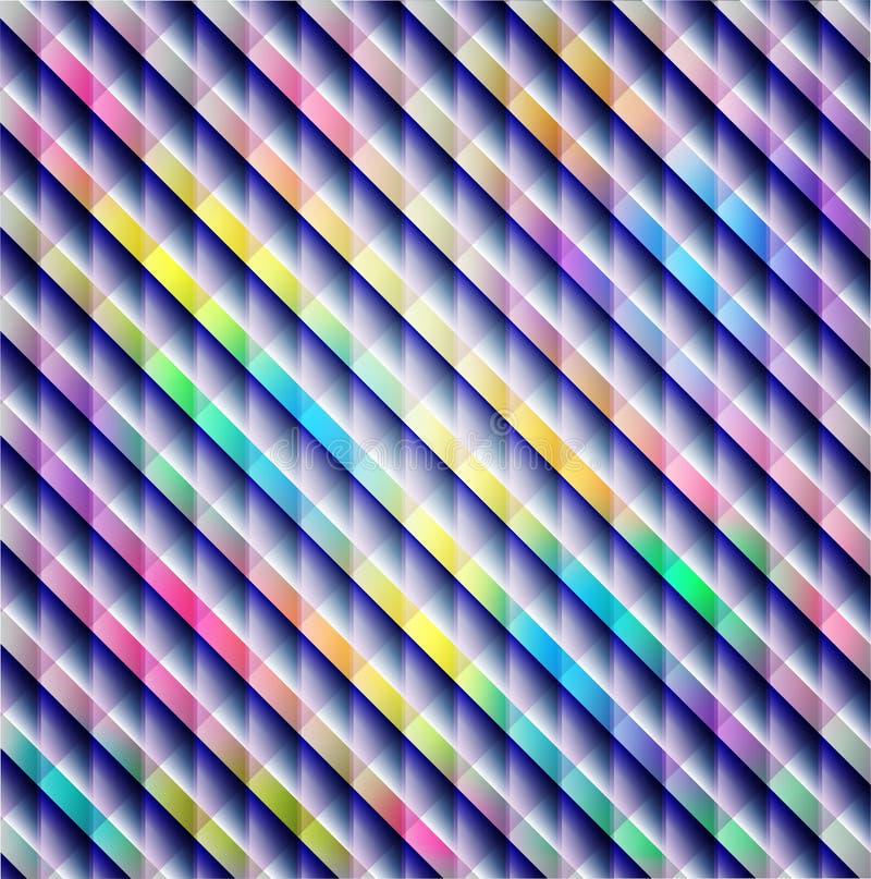 Líneas diagonales del arco iris, plantilla colorida de la tarjeta de modelo de las rayas stock de ilustración