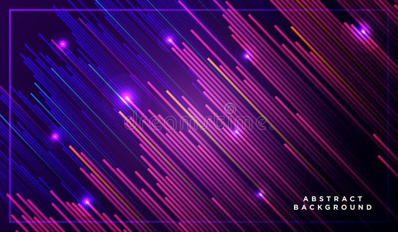 Líneas diagonales del vector de las rayas que injurian para arriba con la sombra y el ejemplo ligero que brilla intensamente Espa libre illustration