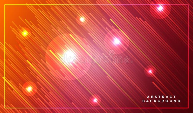 Líneas diagonales del vector de las rayas que suben con la sombra y el ejemplo ligero que brilla intensamente Espacio y estrellas stock de ilustración