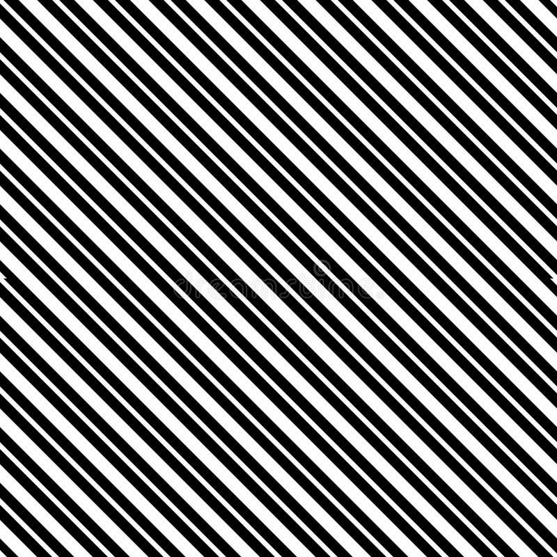 Líneas diagonales inconsútiles modelo del vector blanco y negro Papel pintado abstracto del fondo Ilustración del vector libre illustration
