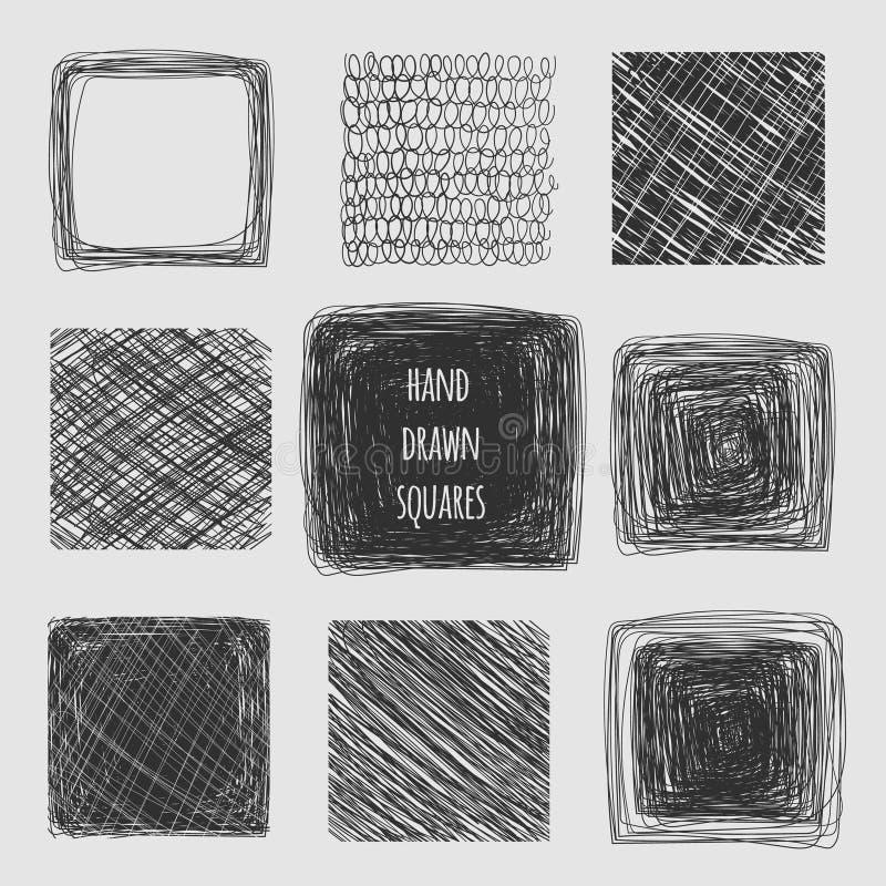 Líneas dibujadas mano texturas ilustración del vector