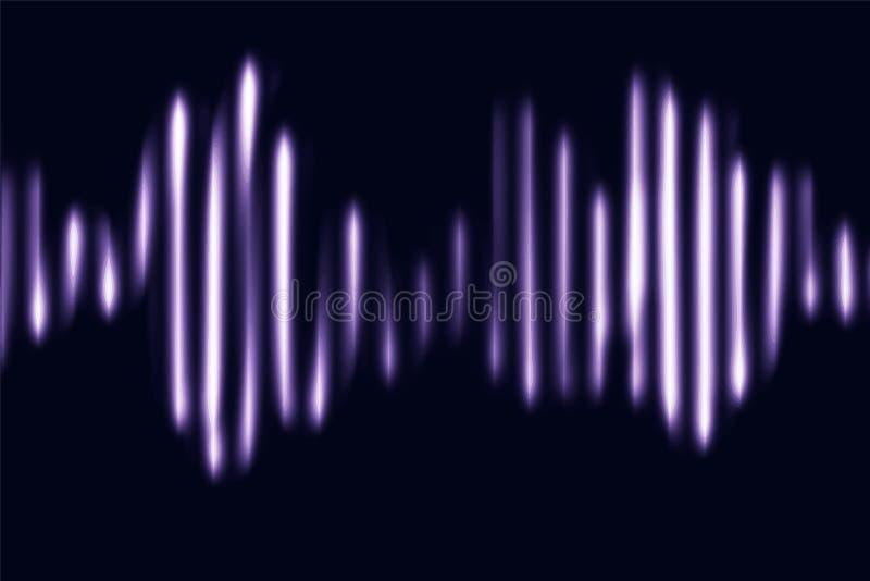 Líneas dinámicas líquidas de las partículas del extracto de la música que brillan intensamente de neón Fondo de moda, cubierta fl ilustración del vector