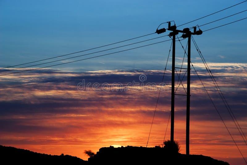 Líneas eléctricas -01 fotos de archivo libres de regalías